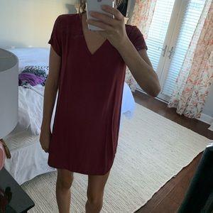Cloth and Stone Burgundy Dress
